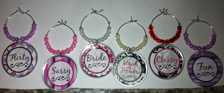 Stagette Wine Charms