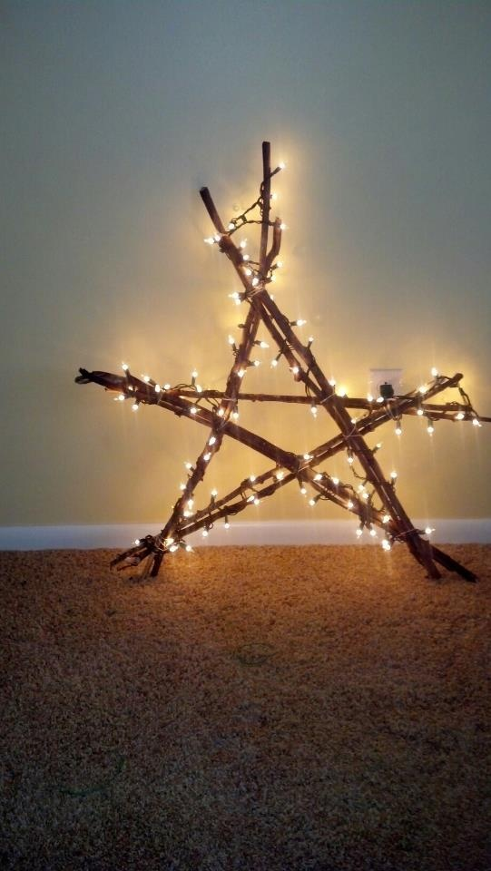 48 Star Christmas Decorations Outside