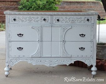 BATHROOM VANITY Custom Converted From Antique Dresser Painted Shabby Chic 28 To 48