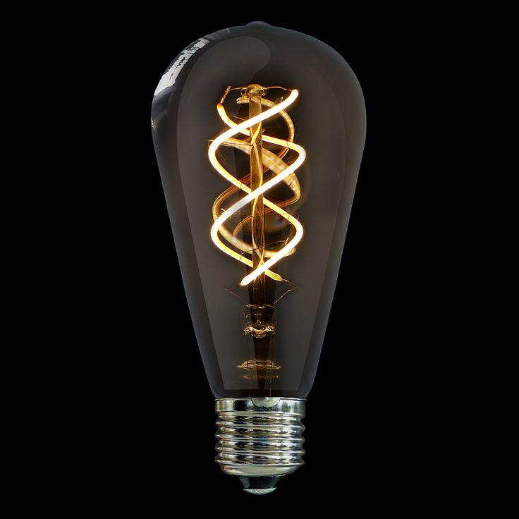 This LiquidLEDs Vintage bulb has a patented Spiral filament that enhances the bulb's nostalgic look, evoking the hand-wound, spiral carbon filaments of the late Victorian era and the tungsten filaments of the early 20th-century, while spreading a warm 360° glow. At 5 watts, you get a brighter 300 lumens equivalent to a less than 40-watt tungsten bulb