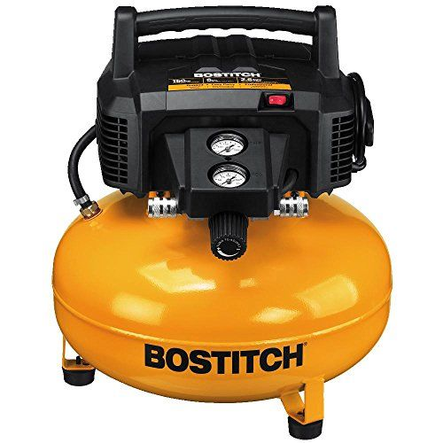 the bostitch btfp02012 6 gallon pancake compressor features a 150 max psi 60 gallon tank
