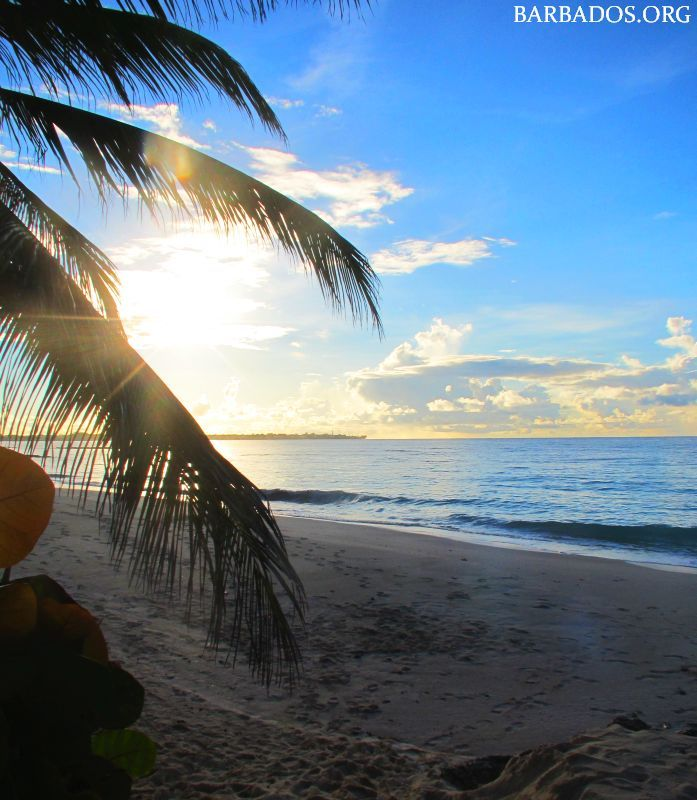 Sunrise at Turtle Beach on the south coast of Barbados.