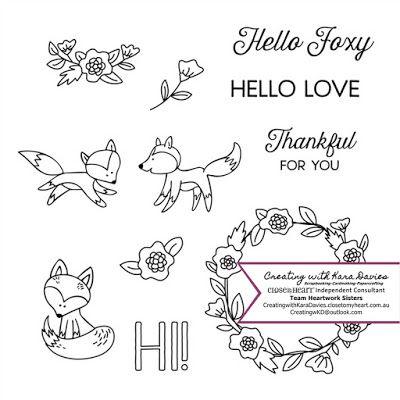 S1706 Hello Foxy : Available through creatingwithkaradavies.closetomyheart.com.au #S1706 #CTMH #SoTM #MyAcrylix