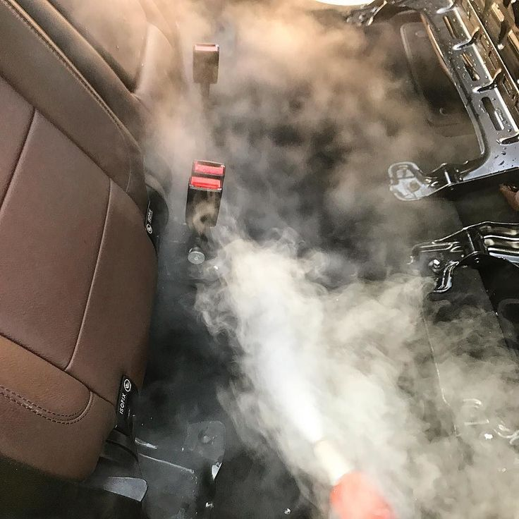 Steam cleaning under the Mercedes back seats for some