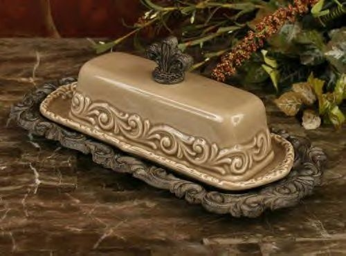 Butter Dish Fleur De Lis Finial Drake Design Taupe Decor Pinterest Taupe Butter And