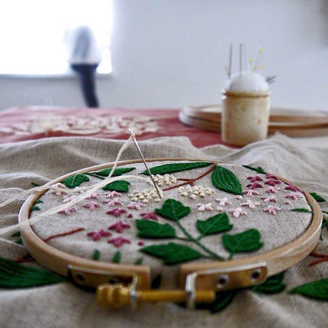 日々刺繍。  #embroidery #刺繍 #刺しゅう #자수