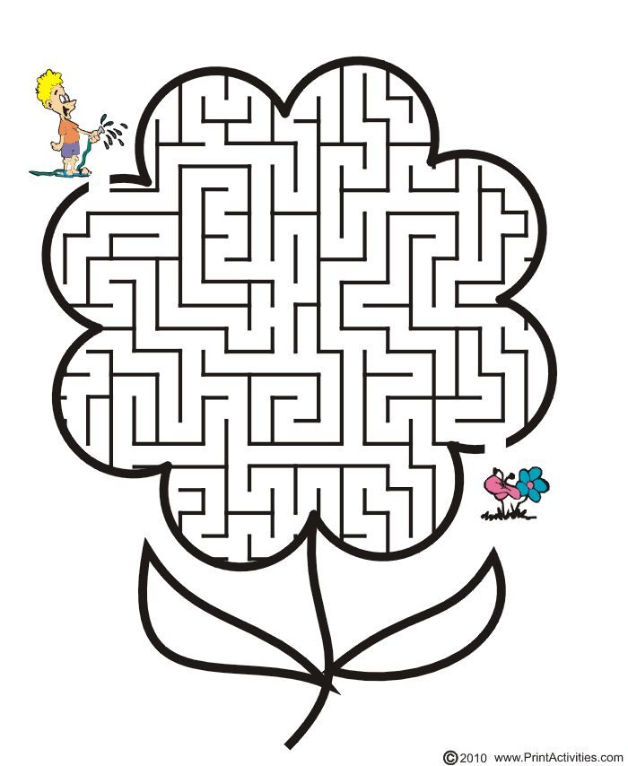 Today S Hint 7 Affordable Activity Ideas For First: Free Printable Flower Maze