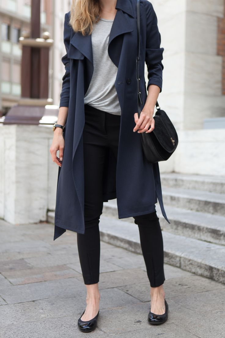 Best 25  Navy trench coat ideas on Pinterest | Black winter coat ...