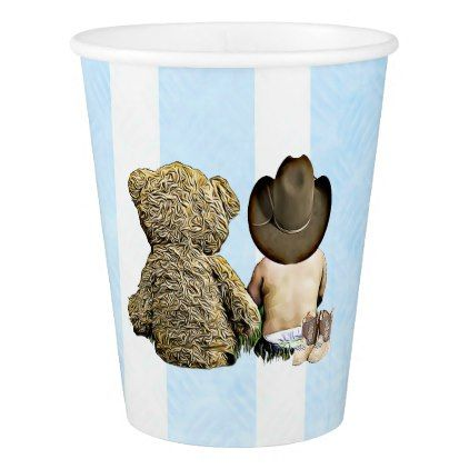 Country & Western Baby Shower Paper Cups - baby gifts child new born gift idea diy cyo special unique design