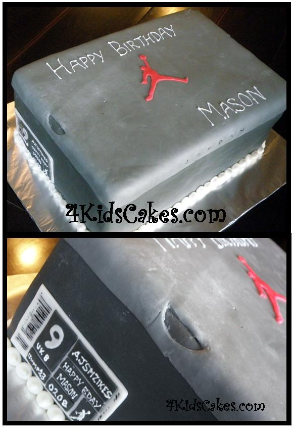 jordan shoe box cake doing this for my newly obssesed bf