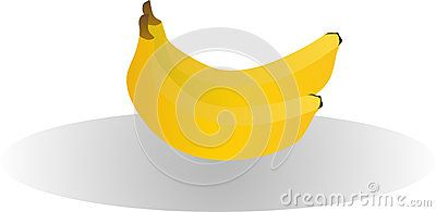 Vector illustration of two bananas.