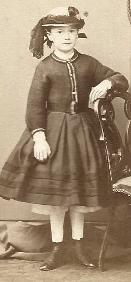 Beautiful Little Girl in Dress Pantalets Hat CDV | civil war era fashion