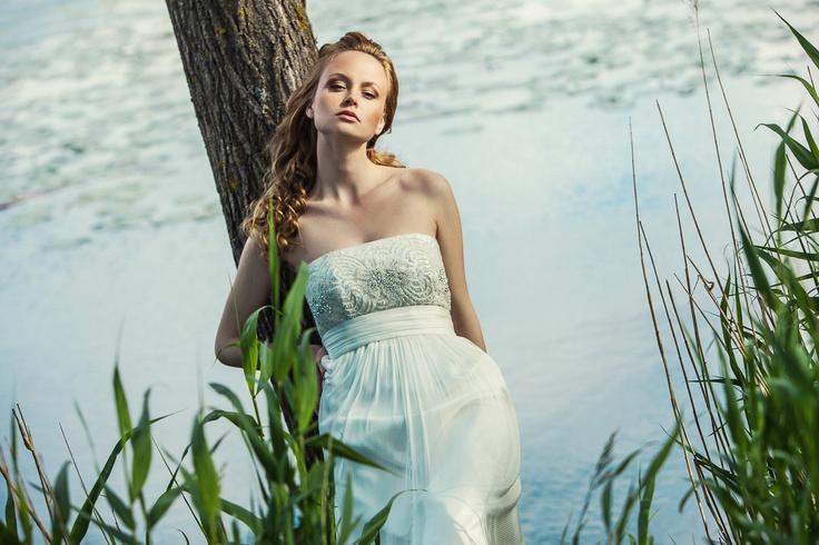 Relaxing & glamoreuse bridal inspiration - Dress IDA.C by SADONI