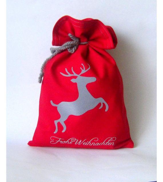 XL Christmas SackSanta sack 10 x 15Personalized by Amaiahandmade