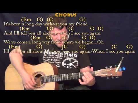 See You Again (Wiz Kahlifa) Strum Guitar Cover Lesson in Em with Chords/Lyrics