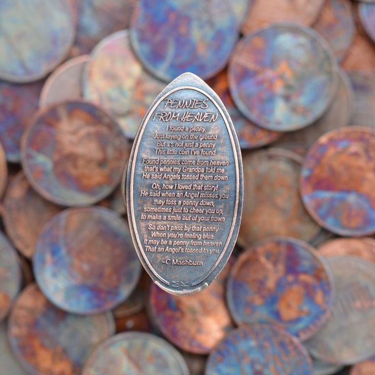 Pressed Penny Pennies From Heaven Poem - Copper Impressions                                                                                                                                                                                 More