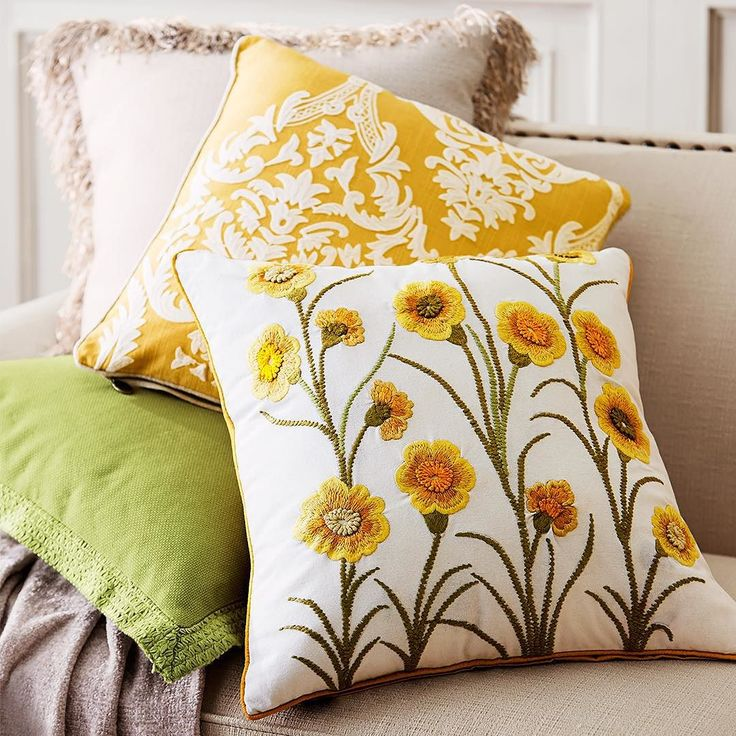 Our new selection of #Pier1 #pillows offers plenty of ways to plant reminders of spring around the house this winter.
