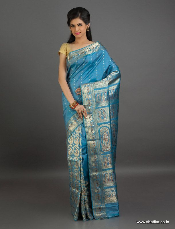 Mythali Fully Adorned Pleats #BaluchariSilk #Saree