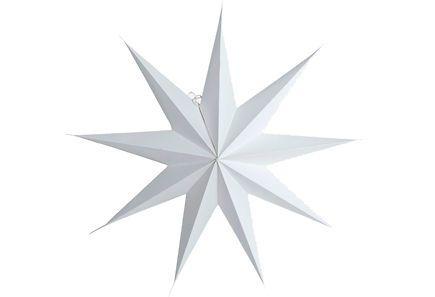 House Doctor paperitähti, 9 sakaraa 60 cm, valkoinen - Sokos verkkokauppa
