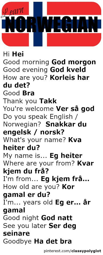 Basics | Norsk