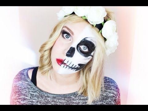 ▶ LADY vs. SKULL - Halloween Make-up Tutorial | Dagi Bee - YouTube