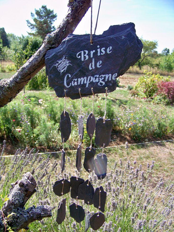 décoration de jardin carillon ardoise : Accessoires de maison par troglodyte-mignon