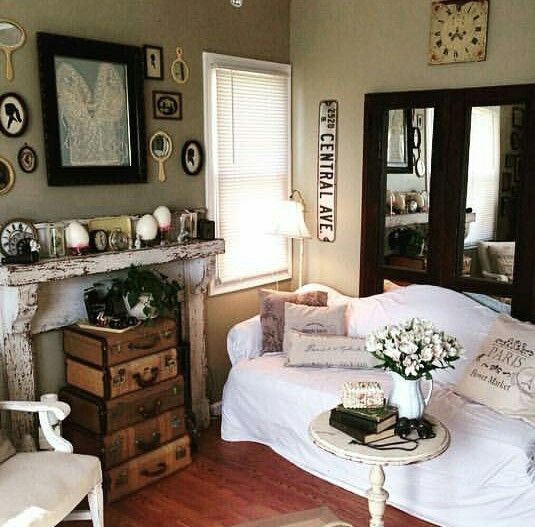 Living Room (pinned From Boomtown Mercantile On Instagram) · Farmhouse  ChicLiving ...