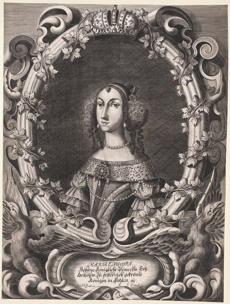 Queen Eleanor Maria Josepha of Austria by Hans Ulrich Franck after Johann Hoffmann, 1670-1673 (PD-art/old), Österreichische Nationalbibliothek
