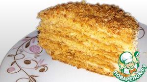 """Торт """"Медовик воздушный"""" Пробовала очень много вариантов медового торта, но этот """"Медовик"""" из заварного теста и заварного крема самый вкусный. Коржи получаются воздушными, а крем нежным. Этим рецептом поделилась со мной моя двоюродная сестра, которая готовит домашние торты на заказ. Настоятельно рекомендую!"""