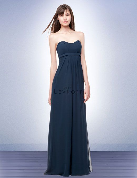 96c87cd1c1b Bridesmaid Dress Style 116 Chiffon strapless gown with a delicate  sweetheart neckline. Soft pleats accent the bodice. Self band at the empire.