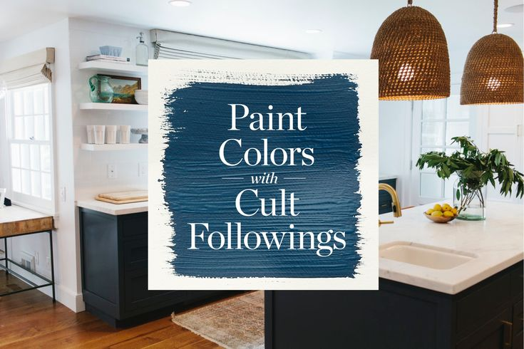 "10 Paint Colors With Cult Followings  ""Hague Blue"" by Farrow and Ball"