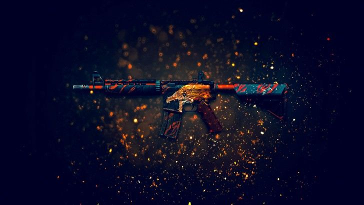 M4A4 Howl Rifle Counter Strike Global Offensive Weapon Skin 1920x1200