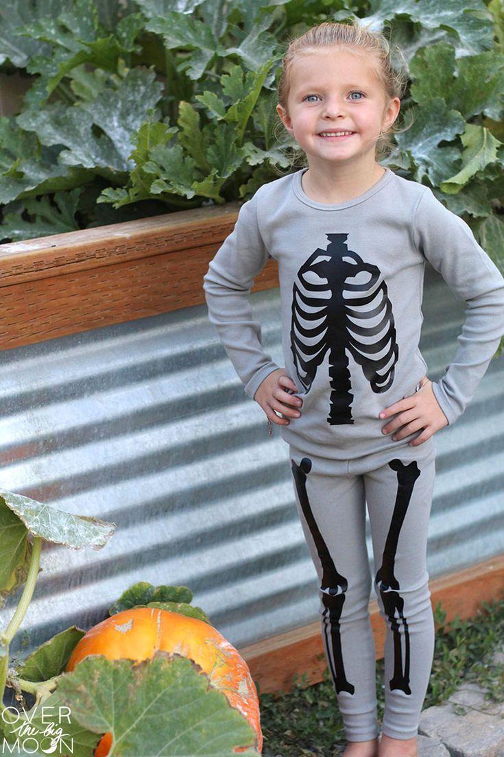 3546f60dac The Cutest DIY Skeleton Pajamas