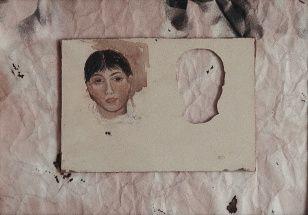 Innocence II., assemblage, 44 x 30 cm, 1996