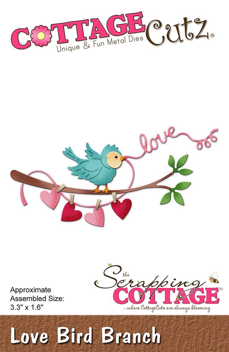 CottageCutz Love Bird Branch
