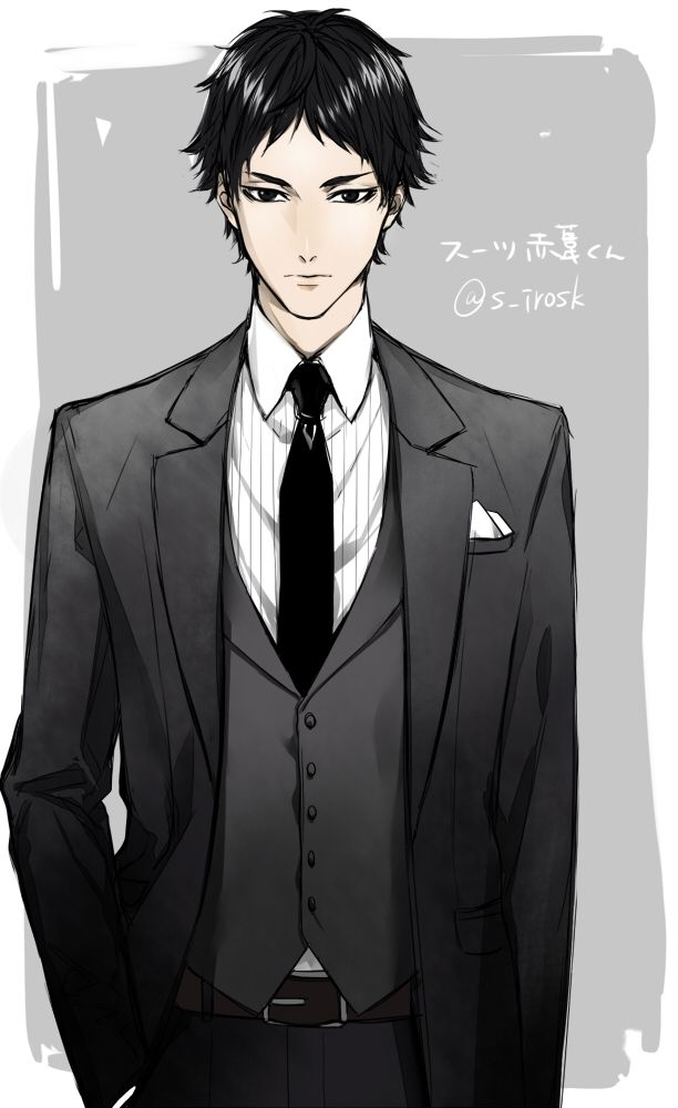 Anime Characters In Suits : Best images about akaashi keiji bokuto koutarou on