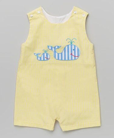Another great find on #zulily! Yellow Gingham Whale John Johns - Infant & Toddler #zulilyfinds