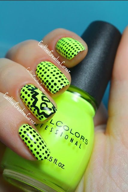 If you are daring enough, you can totally rock this summer by flaunting bold neon nails. Here are some neon nail polish shades that will brighten your day! | Follow http://www.pinterest.com/thevioletvixen/bold-nails/ for more bold nail art!