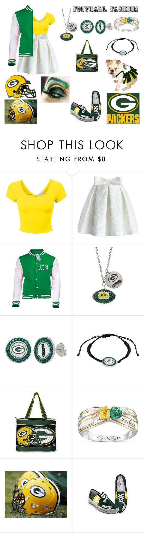 """Green Bay Packers"" by broadway-freak ❤ liked on Polyvore featuring Chicwish, CO and The Bradford Exchange"