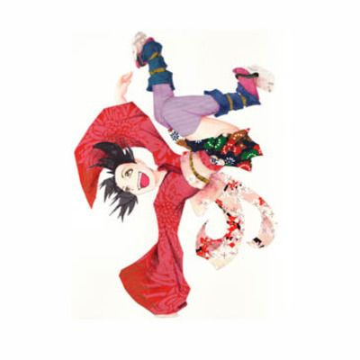 Breaking geisha print