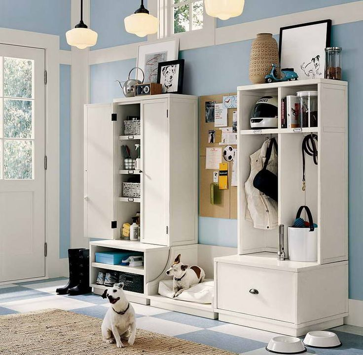 storage ideas for a small house with hanging lamp