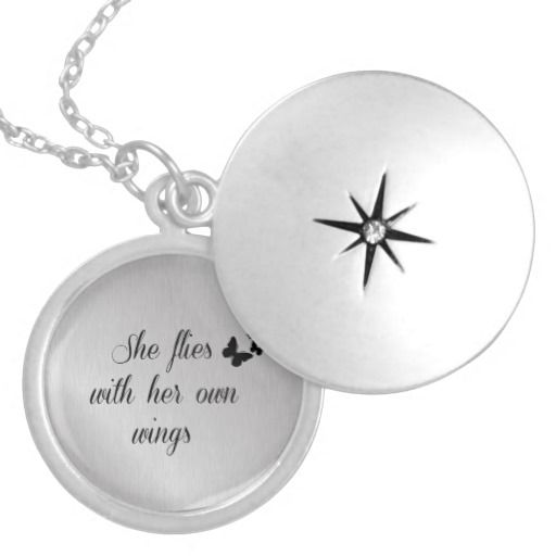 143 best inspirational jewelry with quotes affirmations images on inspirational she flies with her own wings quote pendants quotelife jewelry mozeypictures Choice Image