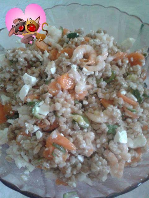 ⇒ Le nostre Bimby Ricette - Consigli per cucinare col Bimby: Bimby, Insalata di Farro, Feta e Gamberetti