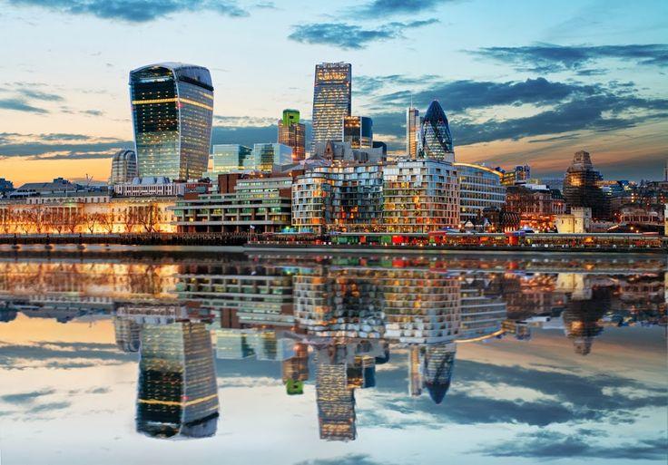 London Skyline At Dusk.
