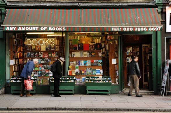 "Starting with ""Any Amount of Books"" on London's Charing Cross Road,  The Top 10 Second-hand Bookshops in Britain"