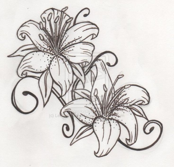 make the lines spell out JC-ankle tattoo tiger lily tattoo | Tiger Lily by LetTheRainFallDown