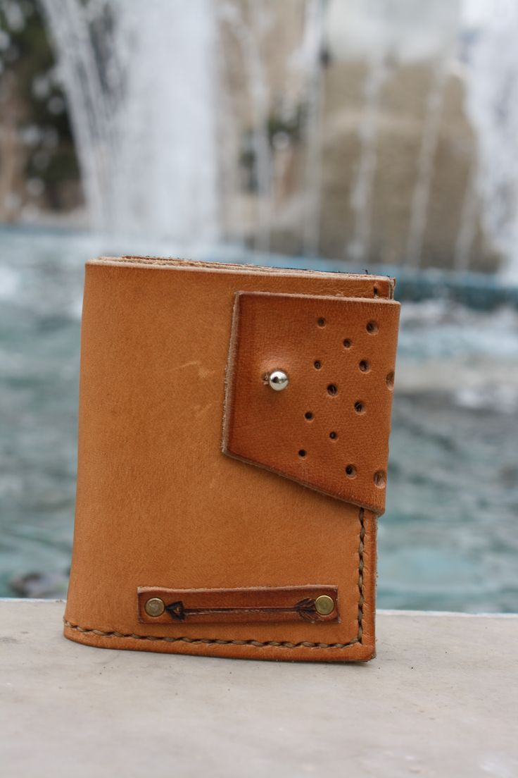 handmade leather wallet by leather crafts anthi