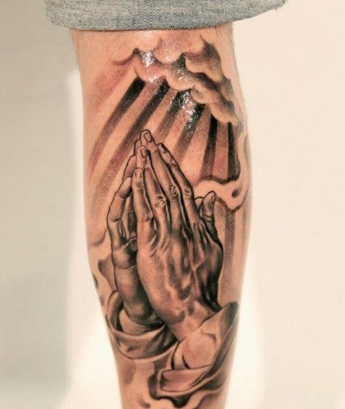 Best Praying Hand Tattoo Designs Ideas For Men 2016