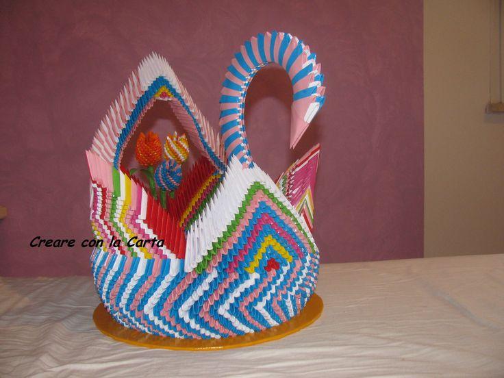 porta vaso in origami 3d #origami #creareconlacarta #origami3d #carta #handemade