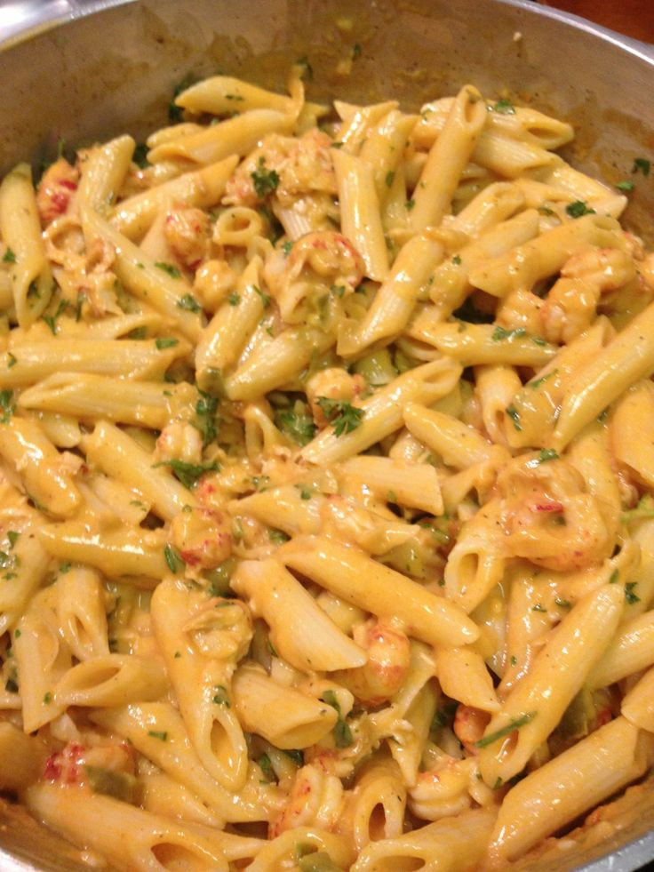Mardi Gras Crawfish Pasta (recipe from one of my Eat This!!! pins). OMG!! So good!!!